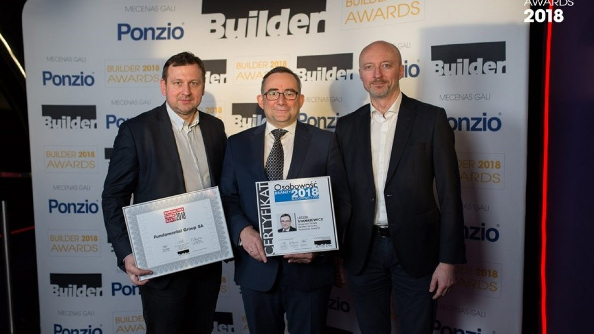 Fundamental Group among the BUILDER AWARDS 2018 winners for the fourth time